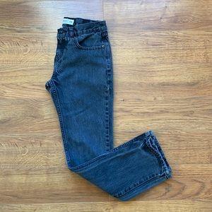 Element size 28 black deep pocket jeans boys 10